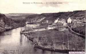 Le pré de Chauvière au premier plan était cultivé à l'époque.