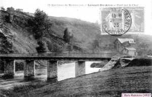 Le vieux pont emporté par la crue de 1940