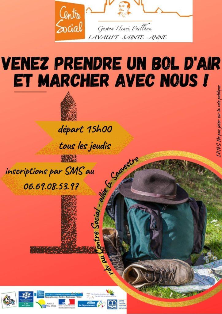 Marche bol d'air du jeudi @ Centre Social Gaston Henri Paillhou